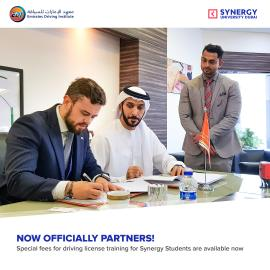 New partner of Synergy: UAE biggest driving school